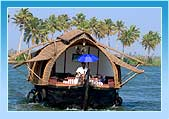 Houseboat in Kerala Backwater